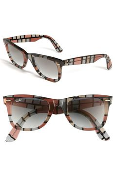 Black frames with black lenses; Tortoise frames with brown gradient lenses