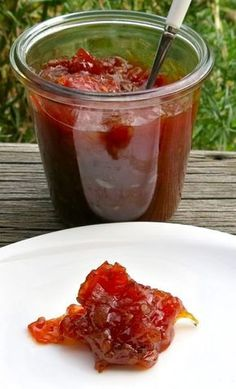 This Sweet and Savory Tomato Jam is garden candy.