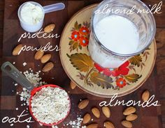 Oatmeal and protein breakfast smoothie #proteindrink #proteinrecipes #proteinpowder