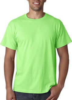 Fruit Of The Loom Heavy Cotton Hd Adult Tee (Neon Green) (5X)