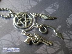 Supernatural Dreamcatcher Charm Necklace by AngelQ on Etsy, $12.95