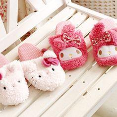Lovely KT plush Hello Kitty MELODY mailedi home warm non-slip slippersflooring