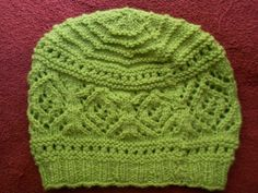 Ravelry: Rosie's Lace Hat pattern by Melody Hadley