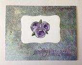 Floral Birthday Card - Happy Birthday Card - Monet Inspired Floral Birthday Card - Birthday Card - Friend Birthday Card