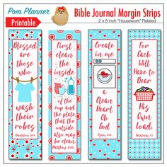 4 Printable Coloring Bible Journaling Margin Strips For Wide Bible Margins Or Planner Sticker