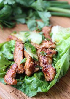 Easy and quick 30 minute chicken lettuce wraps with chicken and veggies | littlebroken.com @littlebroken