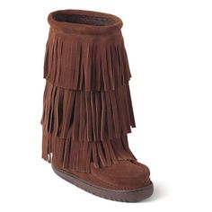 Native Indian Moccasins Mukluk Boots Leather Fringe