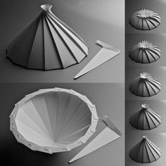 Origami Spiral Cone