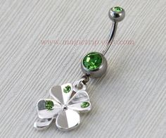 Clover belly ring.