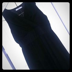 Sheer black maxi dress. Sze xxl. Long black sheer maxi dress. Has cinched waist w/sleeveless arms. Cute. Says xxl but cut more like a Large.  Good condition.  Made by Luomeidisha Fashion. Dresses Maxi