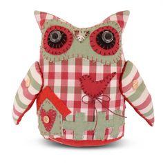 Handmade Fabric Owl Door Stop