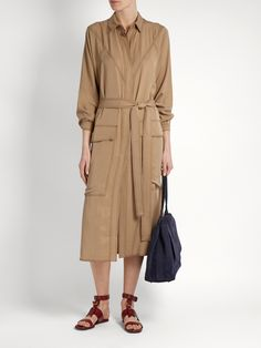 Click here to buy Albus Lumen Sabrina waist-tie twill shirtdress at MATCHESFASHION.COM