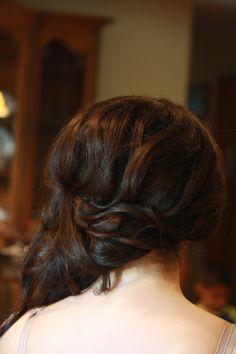 Side updo for long hair