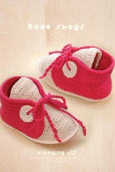 CROCHET PATTERN Baby Boat Shoes Baby Crochet Sneaker Crochet Shoe Pattern Crochet Newborn Booties