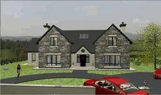 dorm093 Dormer House, Dormer Bungalow, Stone Front House, House Front, Dream Mansion, Dream Houses, House Designs Ireland, Bungalow House Design, Decoration