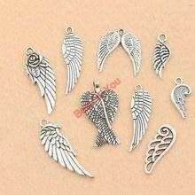 Mixta de plata tibetana del ángel de hadas se va volando los encantos joyería que hace los accesorios de la joyería Diy hallazgos de aleación de Zinc m015(China (Mainland))