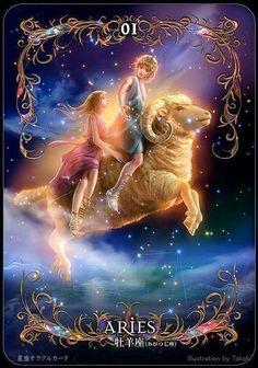 """Photo from album """"Такаки / Takaki"""" on Yandex. Aries Art, Aries Astrology, Zodiac Art, Astrology Zodiac, Zodiac Signs, Zodiac Characters, Anime Zodiac, Image Manga, Fairy Art"""