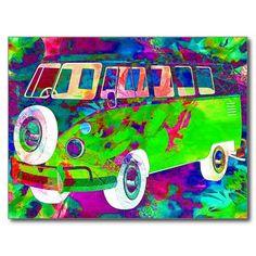 also sold 1 Bohemian Gypsy Minivan Postcard #zazzle