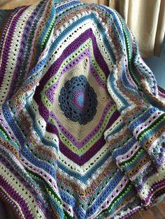 Stitch Sampler Afghan in Scraps Crochet Afghan by jenrothcrochet