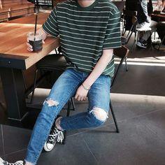 Trendy Mens Fashion, Korean Fashion Men, Stylish Mens Outfits, Korean Street Fashion, Look Fashion, Casual Outfits, Fashion Outfits, Black Outfits, Korean Outfits