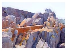 Drawing of rocks at Eersteriver on the east coast of South Africa. Drawn on iPad in Procreate.
