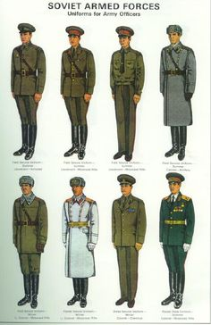 Soviet Uniforms, Thanks Fletch.                                                                                                                                                                                 More