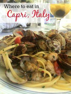 Where to eat in Capri, Italy