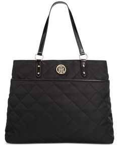 d8755c07b670 Tommy Hilfiger Quilted Nylon Tote Handbags   Accessories - Macy s