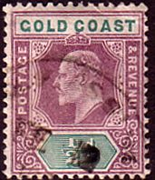 Gold Coast Ghana 1902 SG 38 King Edward VII Fine Used SG 39 Scott 39 SG 38 Scott 38 Other Commonwealth Stamps here