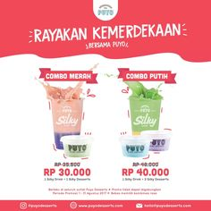 Puyo Dessert Promo Spesial Rayakan Kemerdekaan http://www.perutgendut.com/read/puyo-dessert-promo-spesial-rayakan-kemerdekaan/6340?utm_content=buffer0358b&utm_medium=social&utm_source=pinterest.com&utm_campaign=buffer #Promo #Jakarta #Indonesia #Merdeka