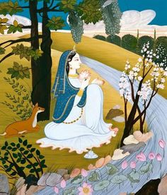 Queen Kunti, mother of the Pandavas