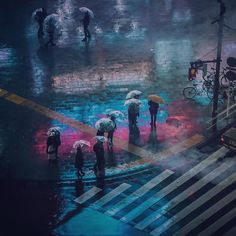 At Night Photography Series By Andreas Levers Scene Urban And - City streets glow in eerie night time photographs by andreas levers