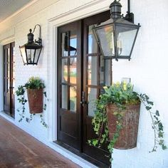 Happy Wednesday , so I've been keeping my eye out for lighting just like this for my back patio how gorg are these #humpday #homedecor #lighting #cottagestyle #nantucketstyle #homeaccents #windyhillcottage #farmstyle #curbappeal #planters