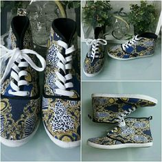 Charlotte Russe Animal Print Tennis Sneakers Charlotte Russe Animal Print Tennis Sneakers Worn Twice 26.99 Size 8 Will clean before Shipping Charlotte Russe Shoes Sneakers