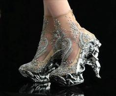 Shoes / shoes / Alexander McQueens Baroque Angels | Haute Couture shoes | Fashion design shoes |2013 Fashion High Heels|