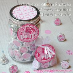Great idea for Traci's Hope - My Computer is My Canvas: {NEW} Breast Cancer THINK PINK Kiss Printables