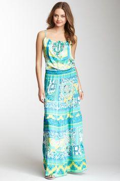Drop Waist Silk Blend Maxi Dress by Hale Bob on @HauteLook