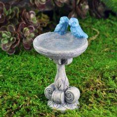 Fairy Garden Miniature Birdbath with Bluebirds. SHOP now $3.99