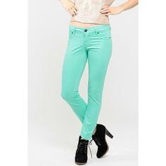 CiCiHot Pastel Skinny Jeans ($14) ❤ liked on Polyvore featuring jeans, pants, bottoms, denim skinny jeans, stretchy jeans, cut skinny jeans, skinny fit jeans and stretch skinny jeans