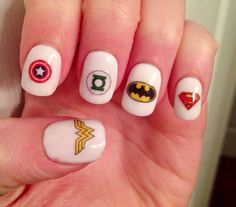 Super Hero Nail Decals by PaipurNails on Etsy, $4.00