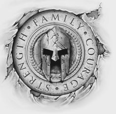 This with a cross instead of a helmet would be cool.You can find Warrior tattoos and more on our website.This with a cross instead of a helmet would be cool. Gladiator Tattoo, Tattoo Sleeve Designs, Tattoo Designs Men, Sleeve Tattoos, Norse Tattoo, Viking Tattoos, Bild Tattoos, Body Art Tattoos, Panzer Tattoo
