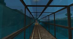 Minecraft - Underwater Rail Tunnel #Minecraftbuildings