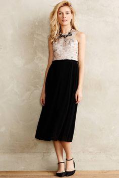 Isobel Midi Dress - anthropologie.com; like the shell/fan-like print on top