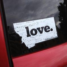 Sticker- LOVE. - MONTANA SHIRT CO.