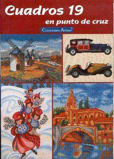 (1) Gallery.ru / Фото #1 - Cuadros 19 - tymannost Cross Stitch Magazines, Cross Stitch Books, Cross Stitching, Cross Stitch Embroidery, Vintage Cross Stitches, Le Point, Filet Crochet, Knitting, Pattern