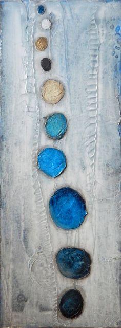 Art peinture acrylique mélangé médias grande peinture