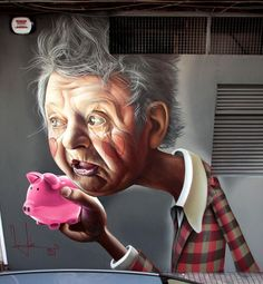 Granny's piggy bank - Belin