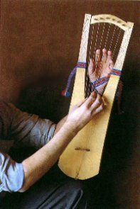 Playing a lyre