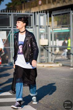 Before Kenzo Street Style Street Fashion Streetsnaps by STYLEDUMONDE Street Style Fashion Photography