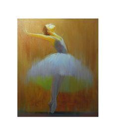 Ballerina Art - Ballet Dancer Giclee Art Print - Dance Art - Dancer Art - Wall Decor -  Dancing Wall Art  from Oil Painting by Yuri Pysar on Etsy, $65.00